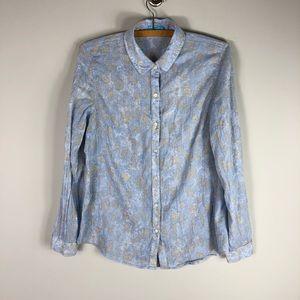 J. McLaughlin Cotton Long Sleeve Button Up Shirt